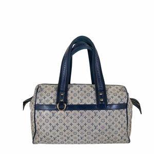 Louis Vuitton Satchel Bag Mini lin Josephine Blue